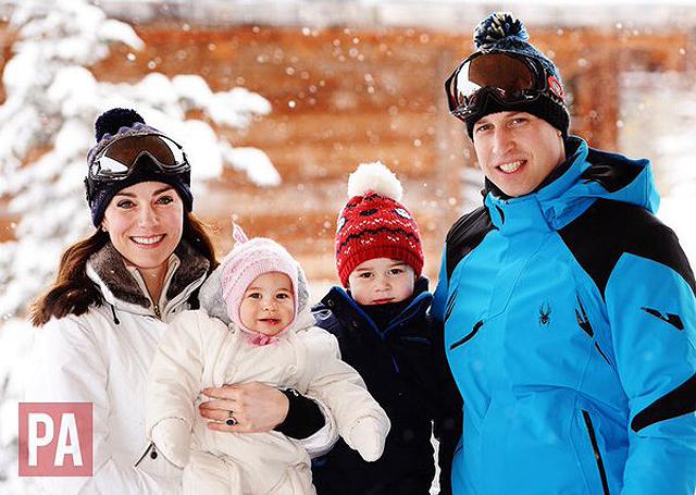 Kate e William con Charlotte e George